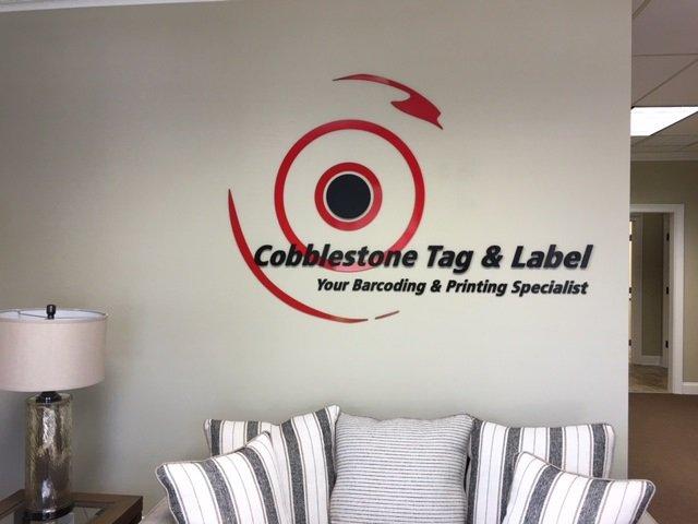 Cobblestone Tag and Label Sign