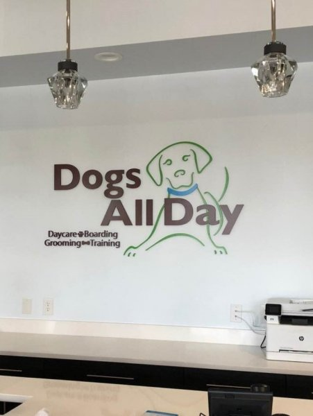 Dogs All Day - Interior Wall Sign