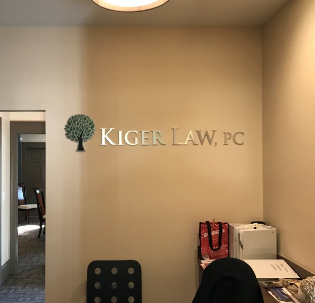 Kiger Law Feature Wall Sign