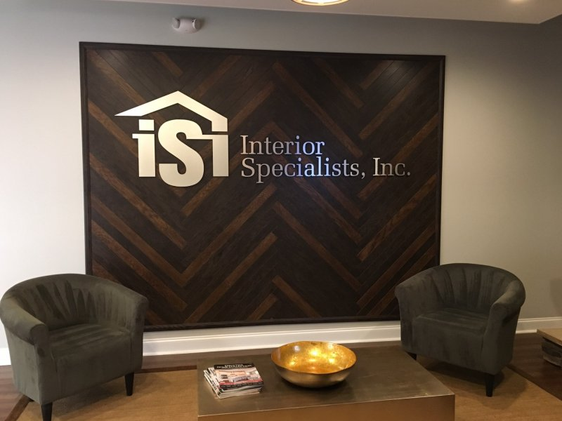 Lobby Sign - Interior Specialists, Inc. of Charlotte