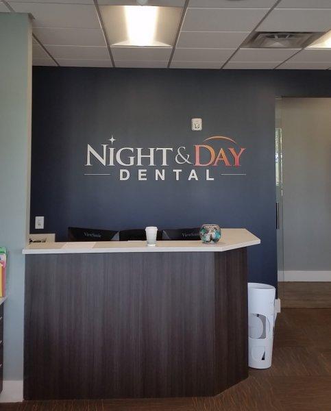 Night & Day Dental - Interior Sign