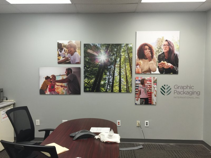 Interior Wall Signage for Graphic Packaging International, Inc.