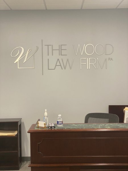 The Wood Law Firm of Charlotte - Lobby Sign