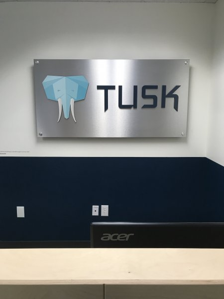Tusk Brokerage - Interior Feature Wall Sign