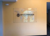 Grace Communion International ~~ Interior Feature Wall Sign