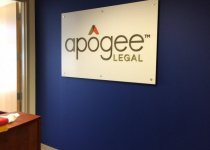 Interior Feature Wall Sign for Apogee Legal in Charlotte, NC