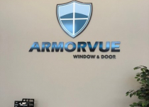 Interior Feature Wall Sign for Armorvuew of Charlotte