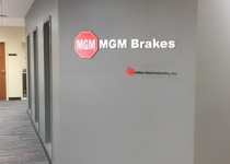 MGM Brakes Interior Sign
