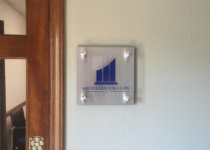 Middlebrooks Law - Small Sign Next to Office Door