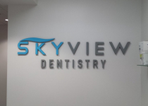 Skyview Dentistry - Interior Office Sign