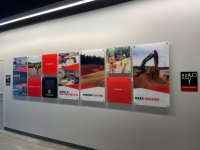 Story Wall of Signs for office space at HGC of Charlotte!
