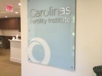 Carolinas Fertility Institute - Interior Sign