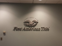 First American Title Interior Wall Sign