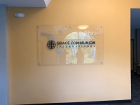 Grace Communion International ~~ Interior Feature Wall Sign