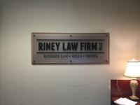 Riney Law Firm Sign - Interior Wall Sign