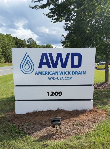American Wick Drain - New Panels for Existing Monument Sign