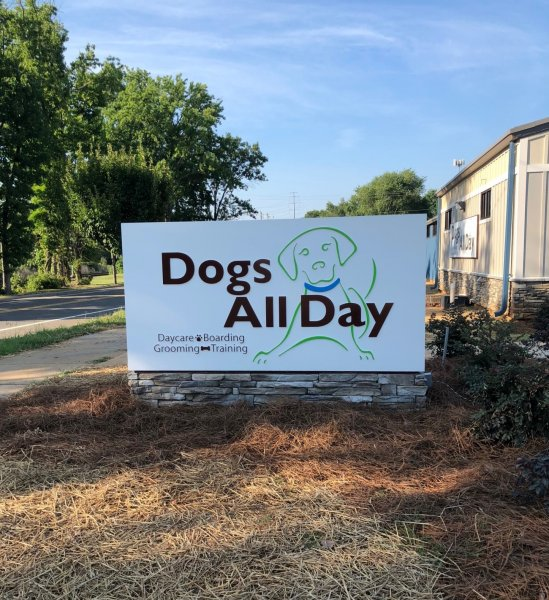 DOGS ALL DAY - MONUMENT SIGN