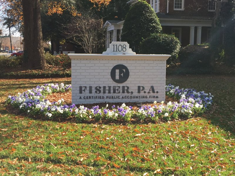 Fisher, P. A. of Charlotte - Monument Sign Refurbishment / Redesign