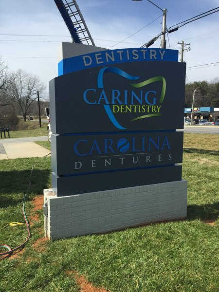 Caring Denistry of Lincolnton, NC - Monument Sign