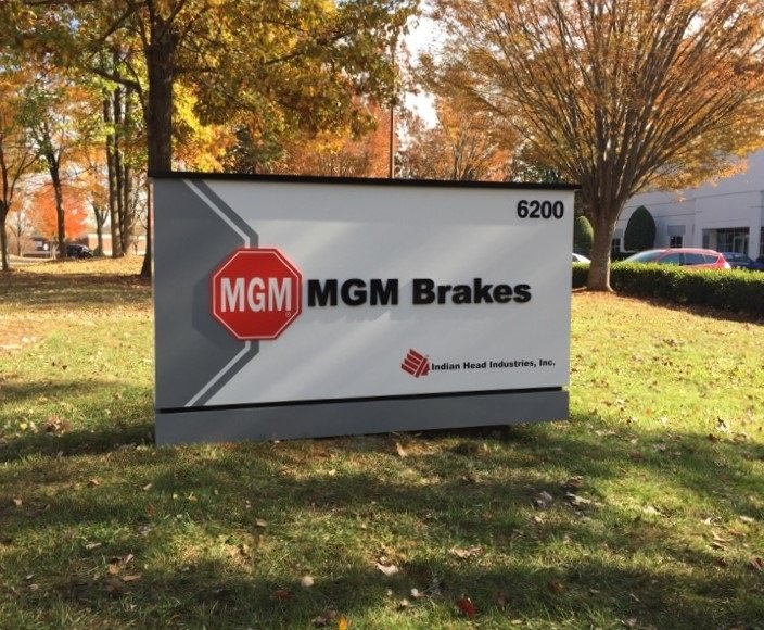 MGM Brakes Exterior Sign