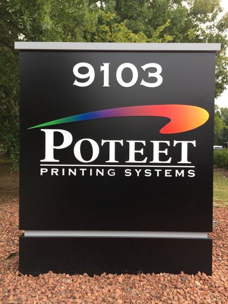 Poteet Printing Systems - Custom Made Monument Sign