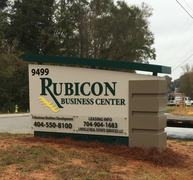 Rubicon Business Center - Monument Sign