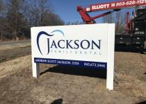 Jackson Family Dental - Monument / Cabinet Sign