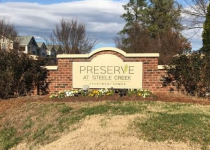 Preserve at Steele Creek Monument Sign