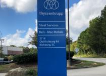 Thyssen Krupp Monument Sign - RE-FACED