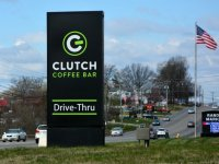 Clutch Coffee Bar of Mooresville, NC - Monument Sign