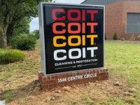 Coit Cleaning Monument Sign
