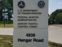 '4939 Hangar Road' Aluminum Letters for existing Monument Sign at FAA of Charlotte
