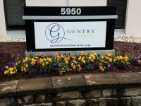 Gentry Dental - New Alumacore Panel for existing Monument Sign