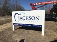 Jackson Family Dental - Monument / Cabinet Sign