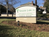 Kiger Law - New Sign Faces for Monument Sign