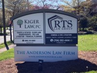 Monument Sign - New Panels for Law Offices