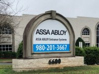 New Alumabond Panel for Existing Monument at Assa Abloy of Charlotte