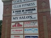 York Ridge Shopping Center - Reconfigured (existing) Pylon Sign