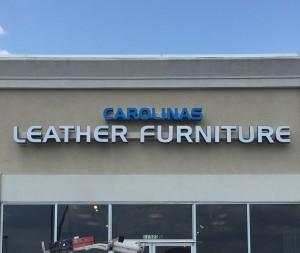 Carolinas Leather Furniture Exterior Channel Letter Sign
