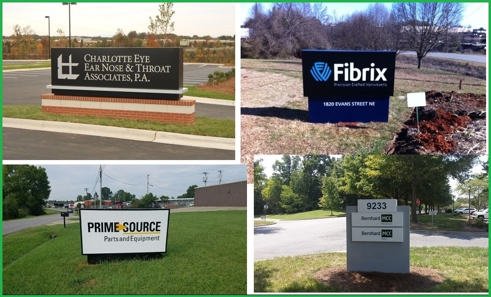 monuments, monuments charlotte, monument signs, monument signs charlotte, signs charlotte, signs NC, custom monument signs, illuminated signs, non lit signs, exterior signs, business signs, company signs, brick base signs, brick signs, exterior signage,