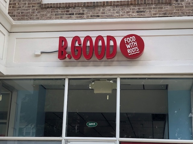 logo signs, business signs, building signs, custom signs, dimensional signs, store signs, signs charlotte, signs huntersville, signs, signs nc, b good,