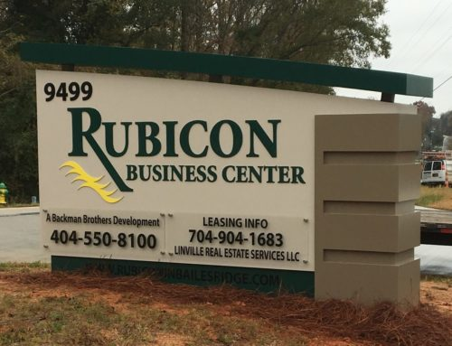 Custom Made Monument Sign for South Carolina Business Center!