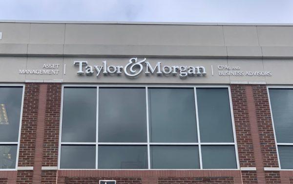 Taylor & Morgan - Exterior Wall Sign