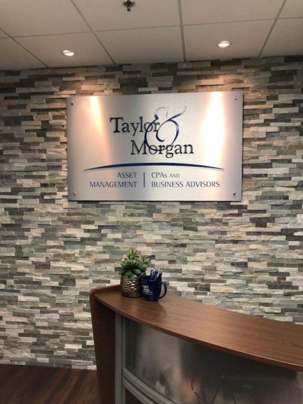 Taylor & Morgan - Interior Feature Wall Sign