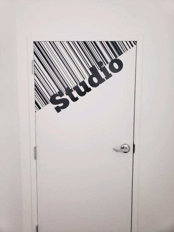 The Barre Code - Interior Door Vinyl