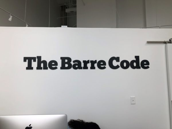 The Barre Code - Interior Feature Wall Sign