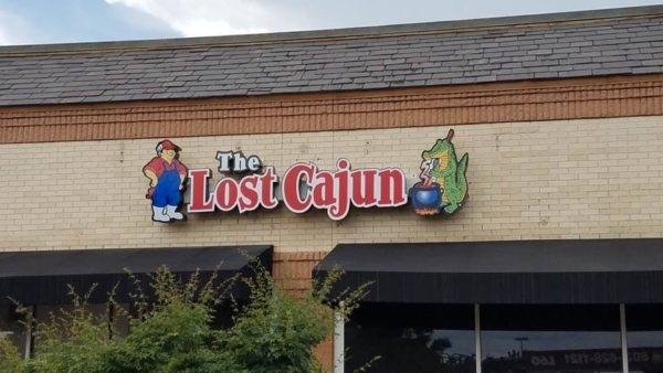 INSTALLATION ONLY -- The Lost Cajun Restaurant: Channel Letter Sign