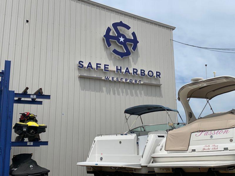 Safe Harbor Westport == Channel Letter Sign with Logo