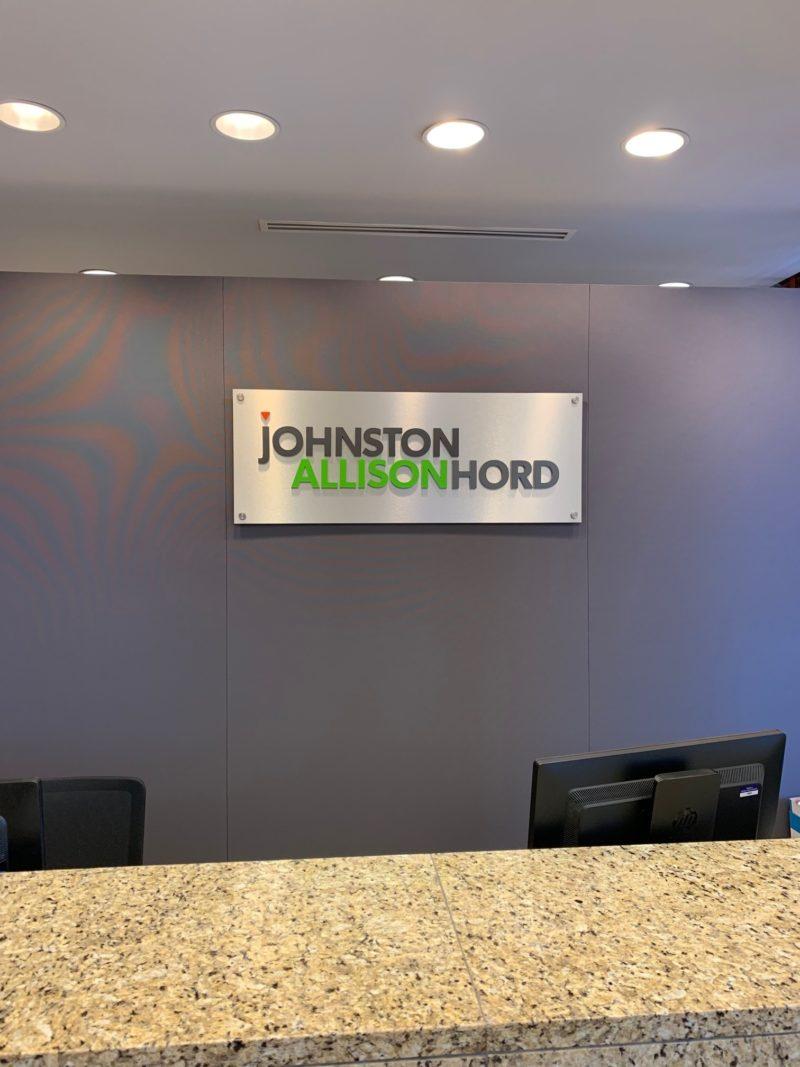 Johnston Allison & Hord - Interior Signage