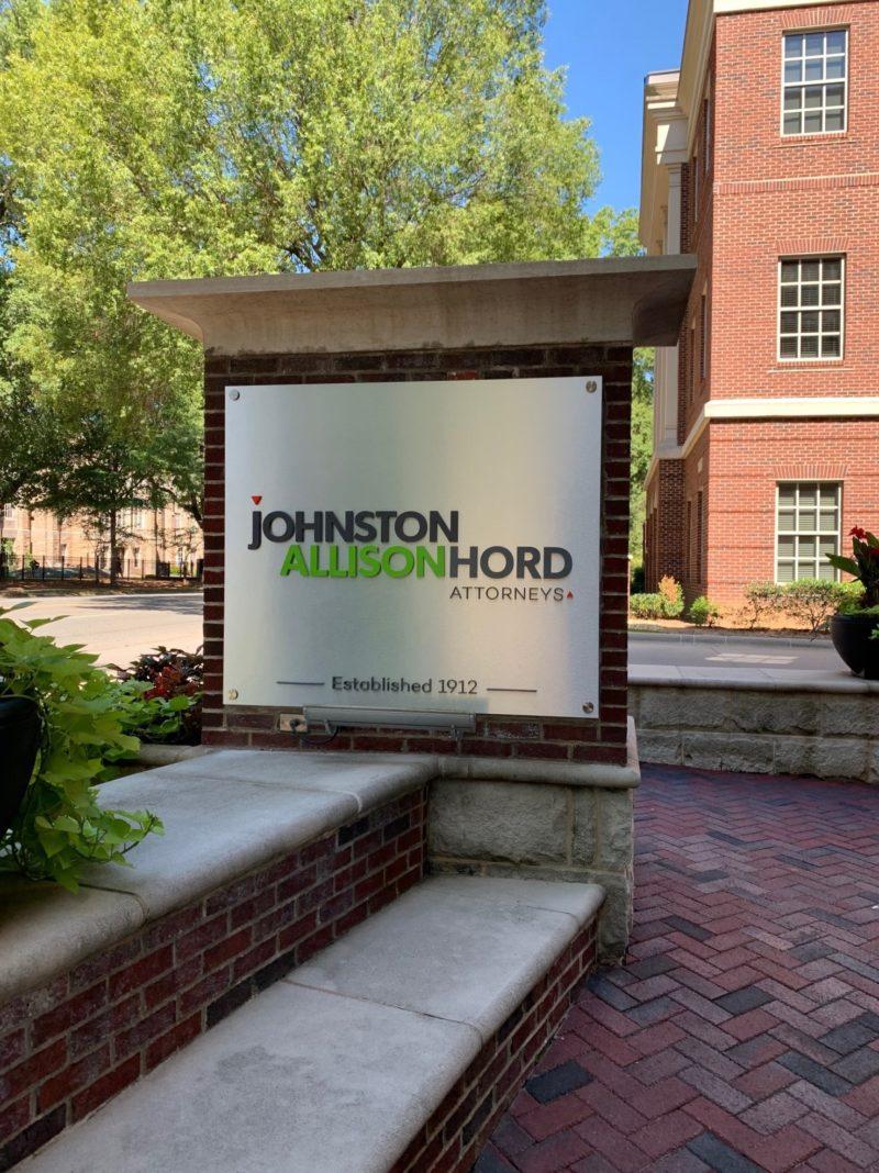Johnston Allison & Hord - New Panels on Monument